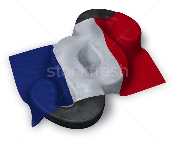 Absatz Symbol Flagge 3D Rendering Zeichen Stock foto © drizzd