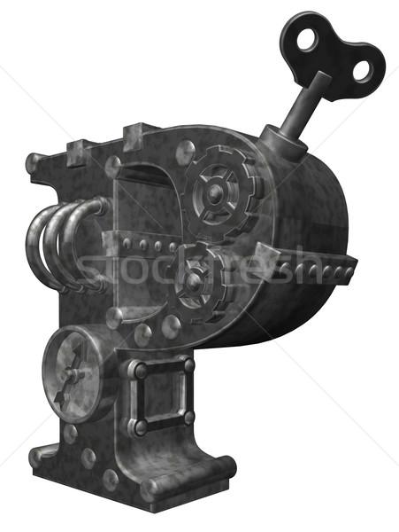 steampunk letter p Stock photo © drizzd