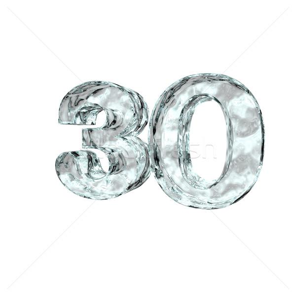 Bevroren dertig aantal 30 witte 3d illustration Stockfoto © drizzd