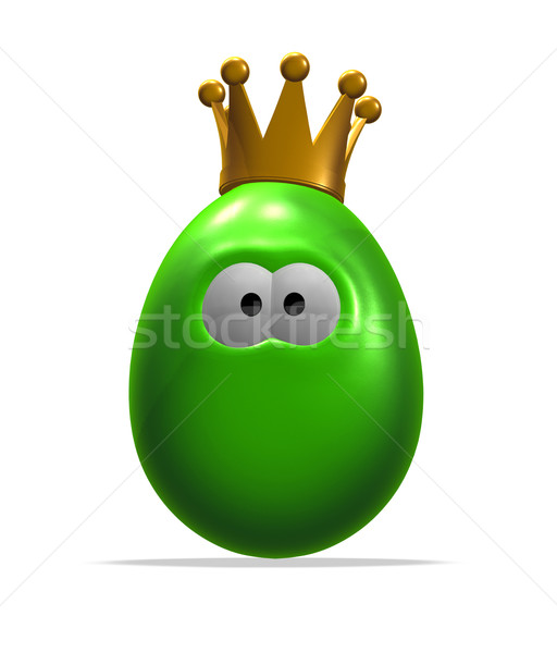 Koning ei easter egg kroon 3d illustration ogen Stockfoto © drizzd