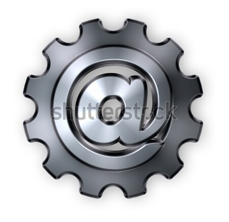 gear wheel prison window - 3d rendering Stock photo © drizzd