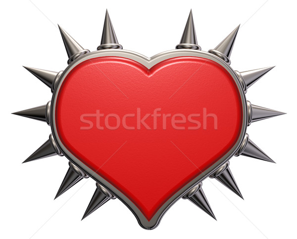 heart symbol with prickles - 3d rendering Stock photo © drizzd