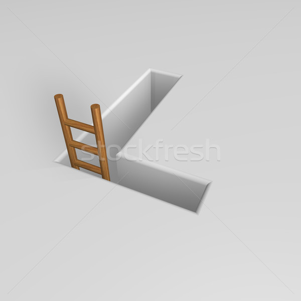 letter l and ladder Stock photo © drizzd