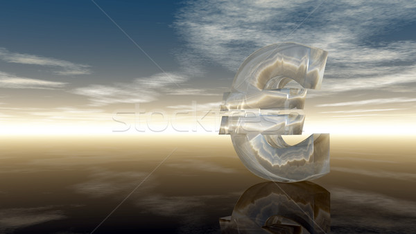 euro symbol under cloudy blue sky - 3d illustration Stock photo © drizzd