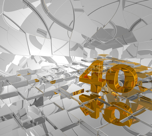 golden forty Stock photo © drizzd