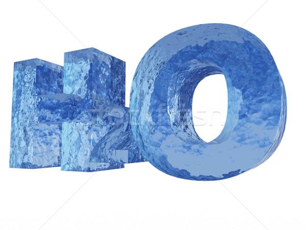 Kimya simge su harfler 3d illustration bilim Stok fotoğraf © drizzd