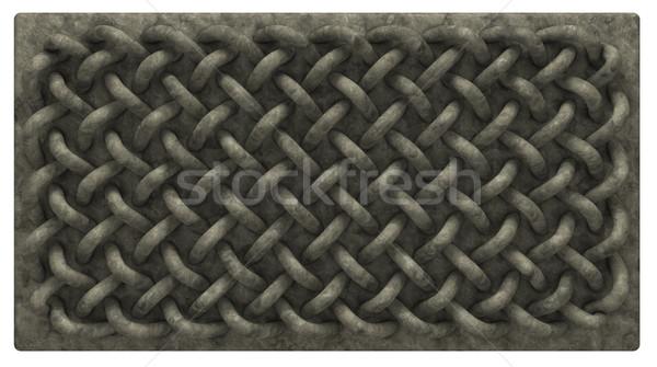 Kelt taş tahta süs 3d illustration büyü Stok fotoğraf © drizzd