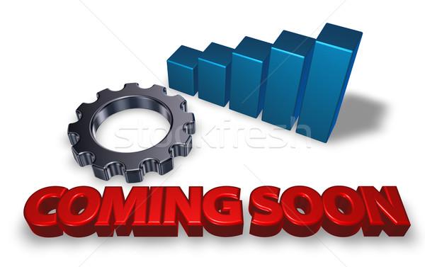 Stockfoto: Binnenkort · tag · versnelling · wiel · 3d · illustration · internet