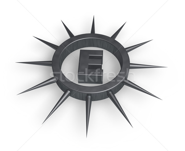 spiky letter e Stock photo © drizzd