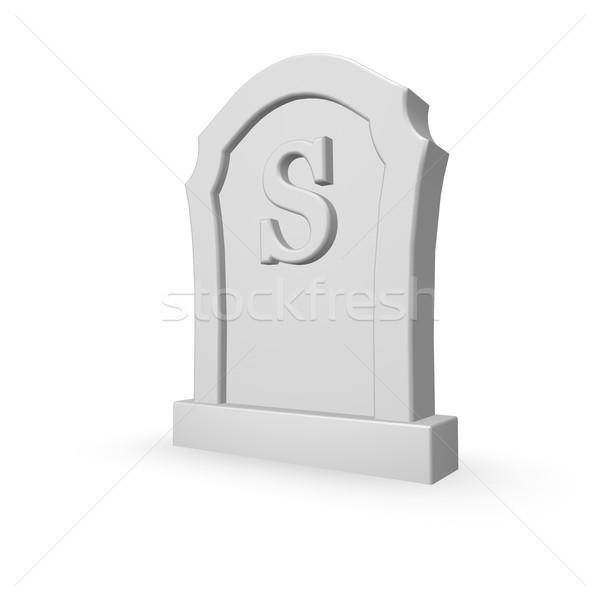 Lápide carta branco ilustração 3d assinar morte Foto stock © drizzd