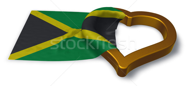 flag of jamaica and heart symbol - 3d rendering Stock photo © drizzd