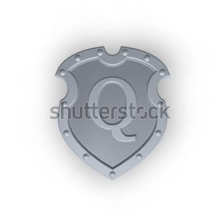 shield with letter Q Stock photo © drizzd
