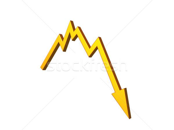 悪い知らせ ビジネスグラフ 3次元の図 お金 市場 矢印 ストックフォト © drizzd