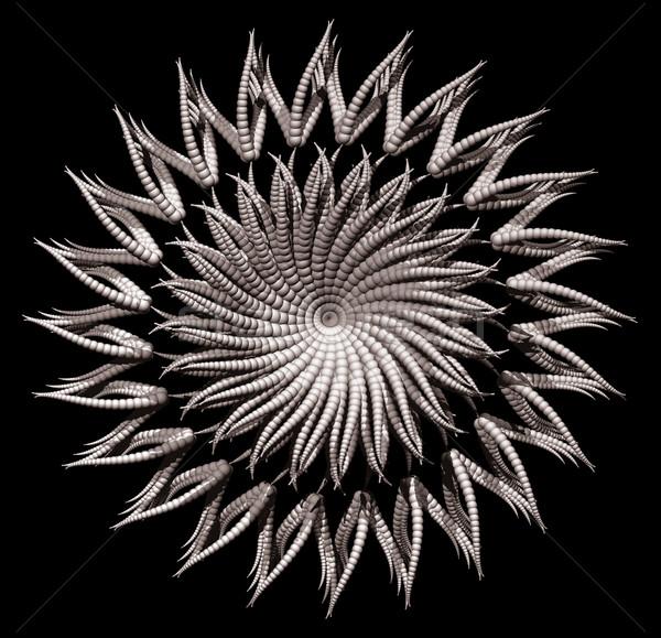 Abstrato orgânico forma preto ilustração 3d serpente Foto stock © drizzd