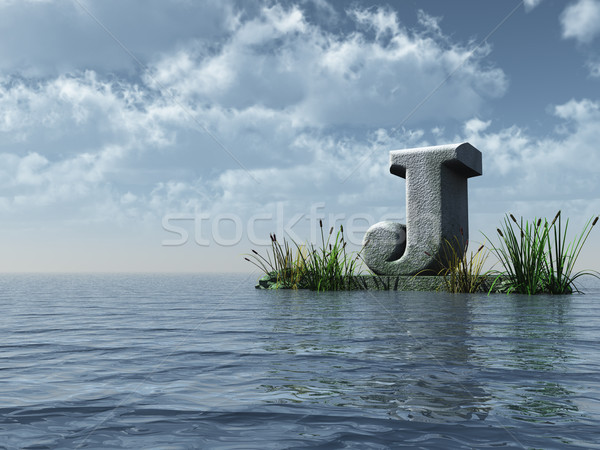 letter j monument Stock photo © drizzd