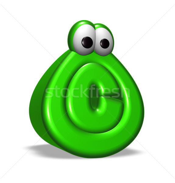 Derechos de autor símbolo Cartoon ojos blanco 3d Foto stock © drizzd