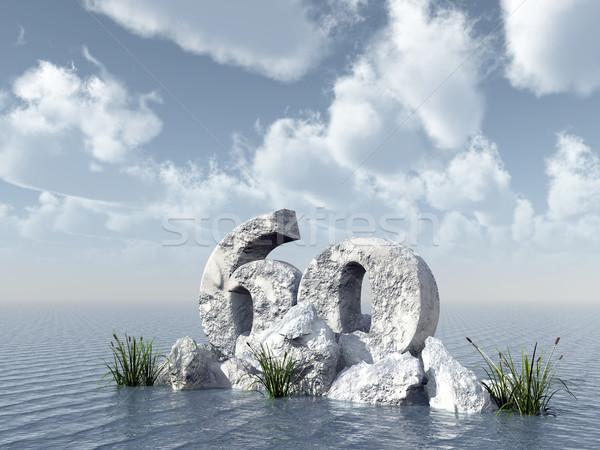 числа шестьдесят рок воды 3d иллюстрации вечеринка Сток-фото © drizzd