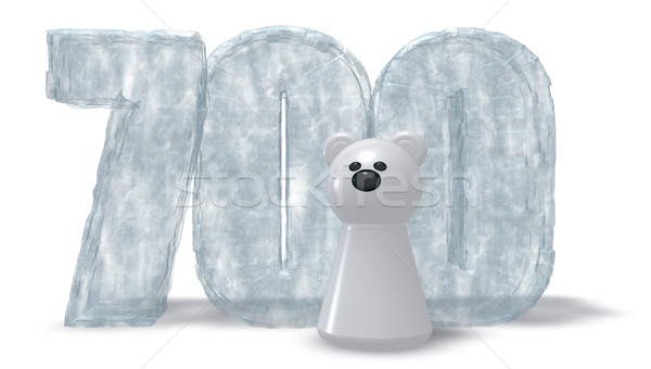 frozen number seven hundred and polar bear - 3d rendering Stock photo © drizzd