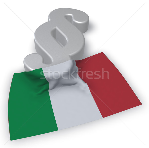 paragraph symbol in italian colors - 3d rendering Stock photo © drizzd