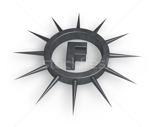 spiky letter f Stock photo © drizzd