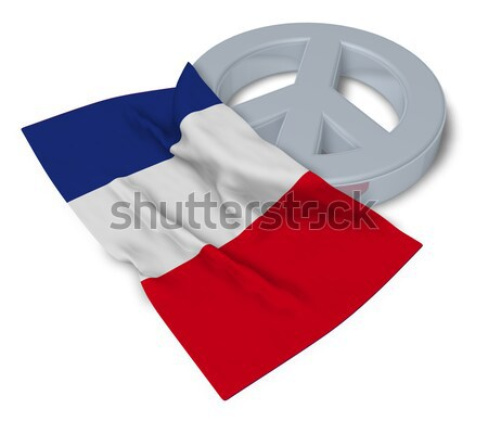 symbol for feminine and flag of poland - 3d rendering Stock photo © drizzd