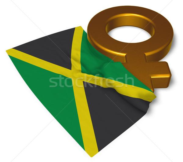 Vrouwelijke symbool vlag Jamaica 3D Stockfoto © drizzd