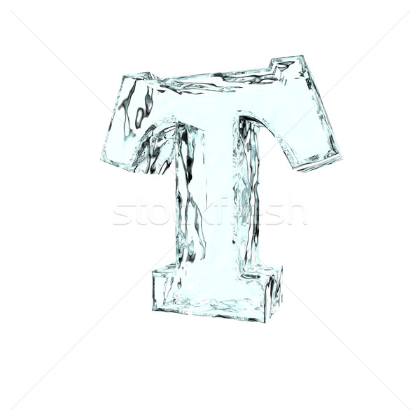frozen letter T Stock photo © drizzd