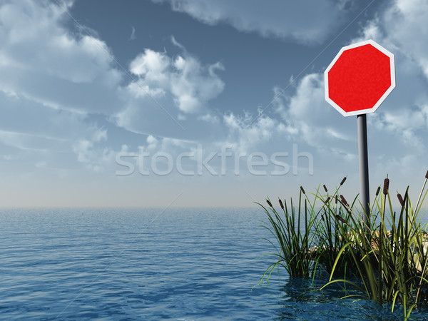 blank stop sign Stock photo © drizzd