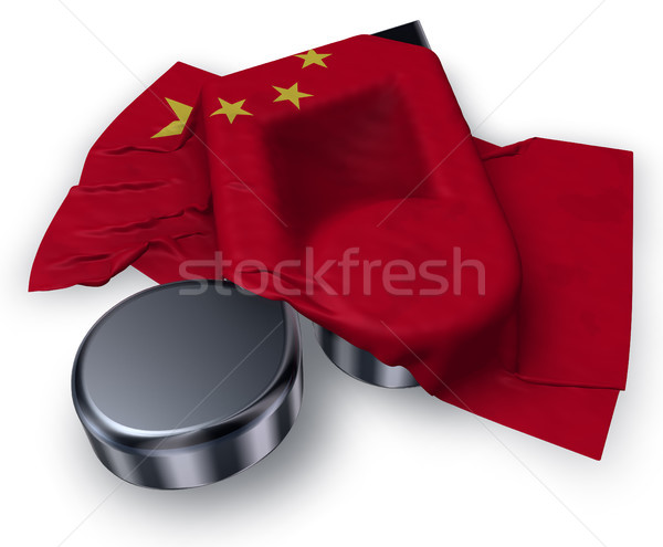 music note symbol and flag of china - 3d rendering Stock photo © drizzd