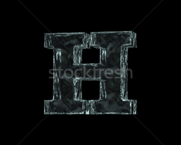 frozen letter h Stock photo © drizzd