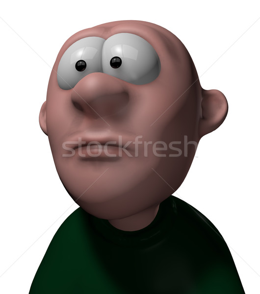 Zastanawiać się funny 3d ilustracji twarz głowie Zdjęcia stock © drizzd