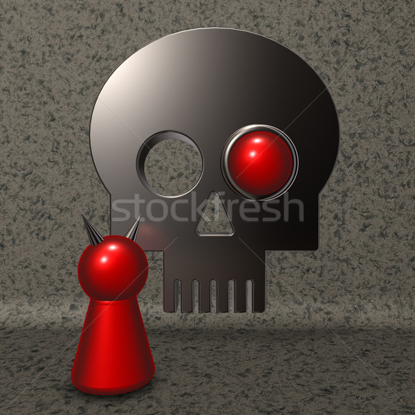 Stock photo: devil and skull