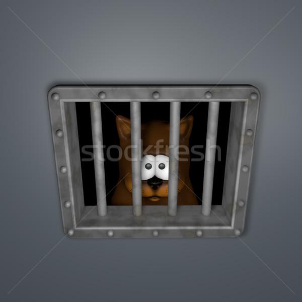 cat in prison Stock photo © drizzd