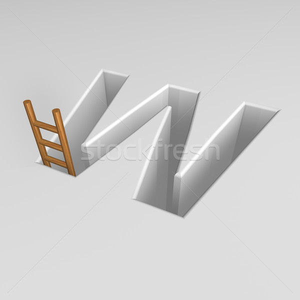 letter w and ladder Stock photo © drizzd