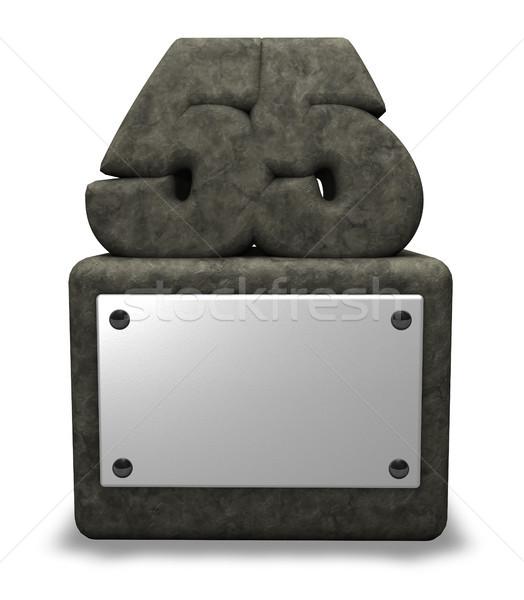 Сток-фото: каменные · числа · пятьдесят · пять · гнездо · 3d · иллюстрации