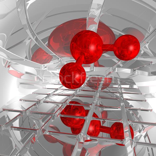 Futurystyczny przestrzeni 3d ilustracji model sieci muzyka Zdjęcia stock © drizzd