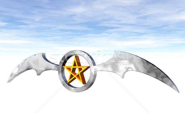 Ring logo 3d illustration achtergrond teken donkere Stockfoto © drizzd