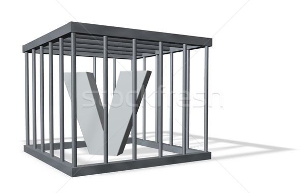 big V in a cage Stock photo © drizzd
