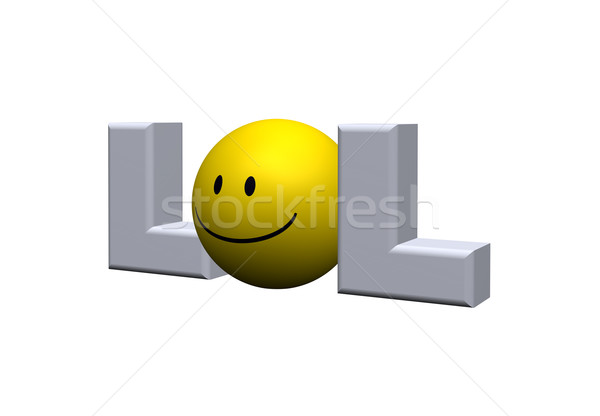笑 言葉 スマイリー 3次元の図 笑顔 ストックフォト © drizzd