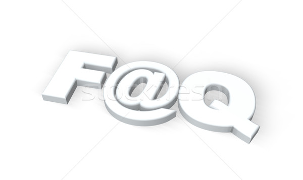 Faq vaak vragen symbool witte 3d illustration Stockfoto © drizzd