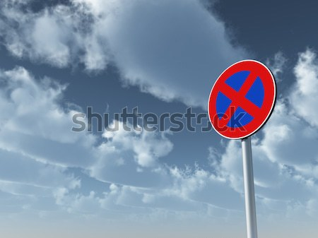 no parking road sign Stock photo © drizzd