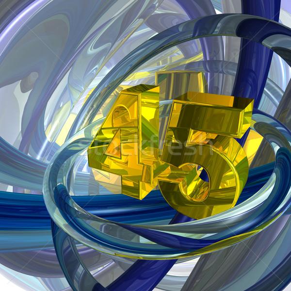 Dourado quarenta cinco número techno espaço Foto stock © drizzd