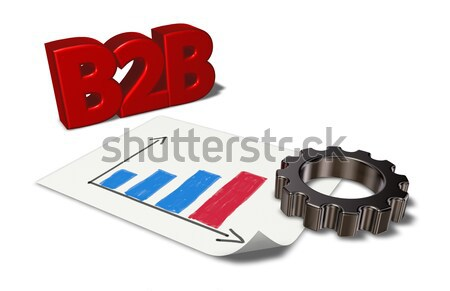 xml tag and gear wheel - 3d rendering Stock photo © drizzd