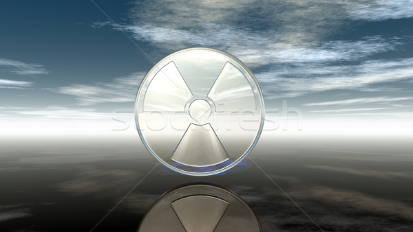 nuclear symbol under cloudy sky - 3d illustration Stock photo © drizzd