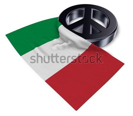 Symbol kobiecy banderą 3D miłości Zdjęcia stock © drizzd