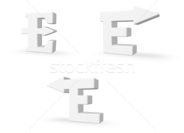 letter e with arrow Stock photo © drizzd