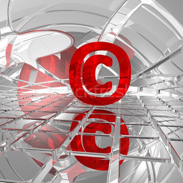 Auteursrecht symbool abstract ruimte 3d illustration business Stockfoto © drizzd