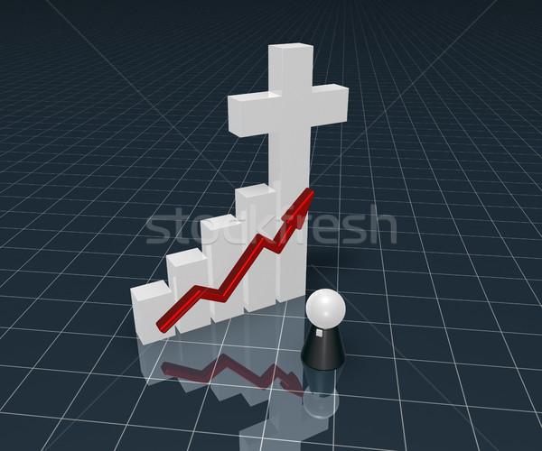 Graphe d'affaires christian croix symbole pape chiffre Photo stock © drizzd