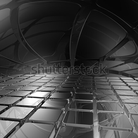 abstract futuristic background - 3d illustration Stock photo © drizzd