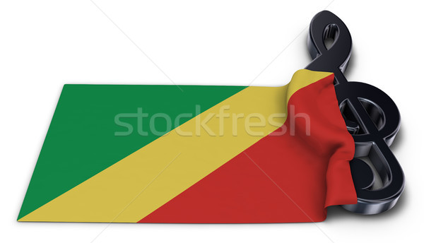 clef and flag of the congo Stock photo © drizzd